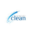 cleaning icon template vector image vector image