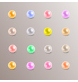 colorful rounded pearls variation eps10 vector image vector image