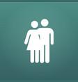 couple hug icon happy valentine day love isolated vector image vector image