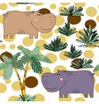 creative seamless childish pattern with cute vector image