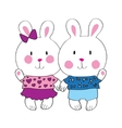 Cute bunny with love letter vector image