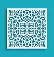 cutout paper ornament square lace pattern vector image vector image