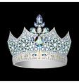 decorative crown of silver vector image vector image