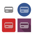 dotted icon bank card in four variants with vector image vector image
