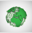 earth and money vector image