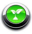 Ecology 3d round button vector image vector image