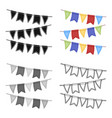 festive colorful ribbons party and parties single vector image