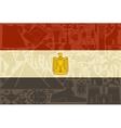 flag egypt vector image vector image