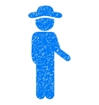 Gentleman Idler Grainy Texture Icon vector image vector image