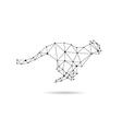 Geometric cheetah design silhouette vector image vector image