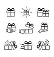 gift box icons collection isolated on white image vector image vector image