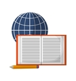 global learning booking pencil vector image vector image