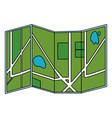 gps map cartoon vector image vector image