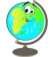 Happy globe cartoon vector image vector image
