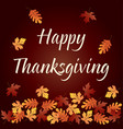 happy thanksgiving graphic with gradient falling vector image vector image
