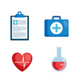 healthcare medical set icons vector image vector image