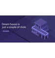 house for sale isometric vector image