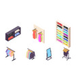 isometric 3d collection isolated urban element vector image vector image