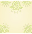 Lace floral summer card template vector image