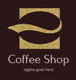 logo with a golden glitter sheen symbol vector image vector image