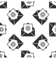 mail and e-mail icon seamless pattern envelope vector image vector image