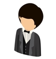man avatar isometric isolated vector image vector image