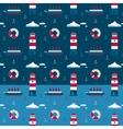 Marine pattern northern seas vector image vector image