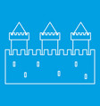 medieval fortification icon outline style vector image vector image