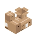 Modern cardboard boxes set Delivery vector image