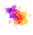 multicolored splash watercolor blot vector image vector image