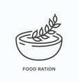 nutrition flat line icon outline vector image