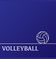 outline volleyball background vector image vector image