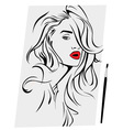 Portrait of a woman vector image vector image