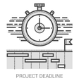 Project deadline line icons vector image vector image