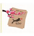 sakura flowers background cherry blossom happy vector image vector image