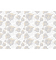 seamless pattern leaves on white background vector image