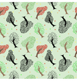 Seamless tree pattern background vector image