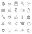 SEO line icons on white background vector image vector image