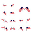 Set american flag design template icon symbol