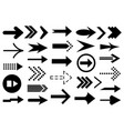 set different arrows vector image vector image