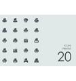 Set of printer icons vector image