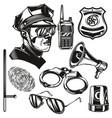 set police elements vector image