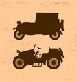 silhouettes of vintage retro cars vector image
