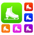 skates set collection vector image vector image