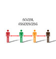 social distancing concept people prevent covid-19 vector image