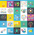 social media networking flat set vector image