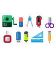 stationery office and school icon set flat vector image vector image