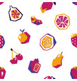 sweet fruit abstract seamless pattern vector image vector image