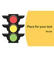 traffic lights road traffic information of cars vector image vector image