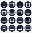 tv round icons set vector image